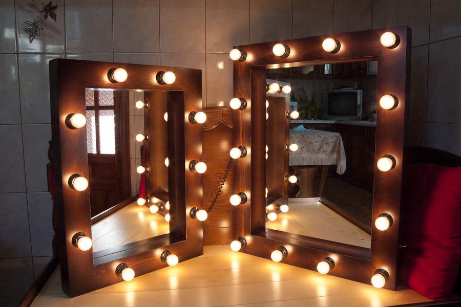Зеркало с подсветкой для гримерной